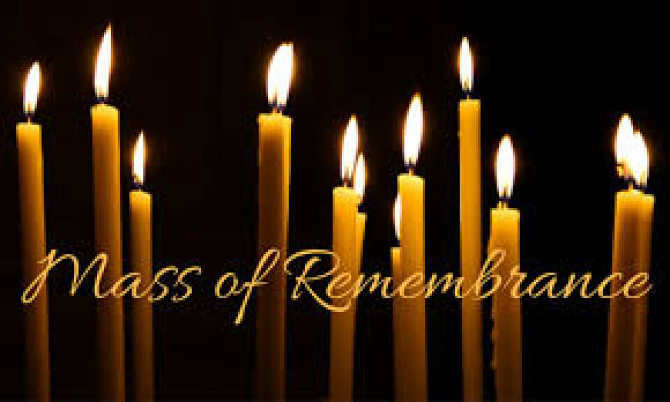 6:30 p.m. Outdoor Mass of Remembrance