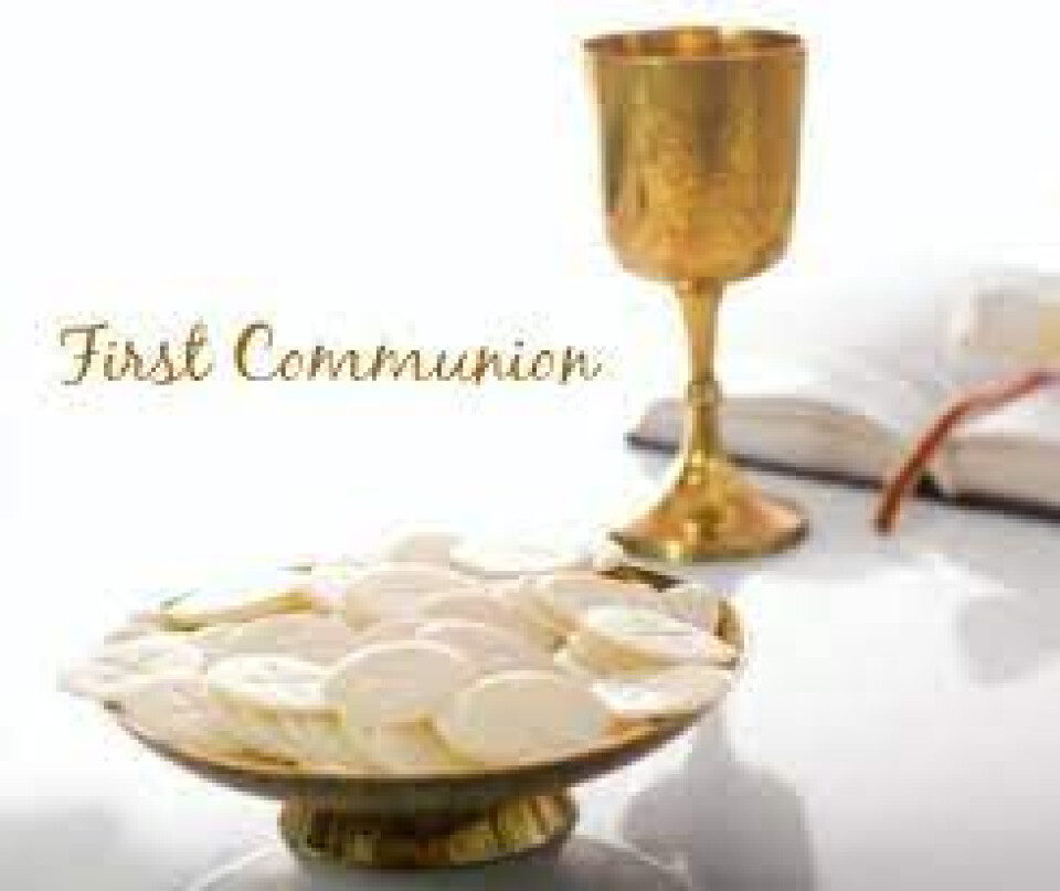 10 a.m. & 12 Noon ~ First Communion